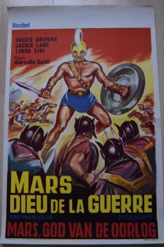 Mars, God of War, Original Belgian Movie Poster, Roger Browne, Linda Sini, '62